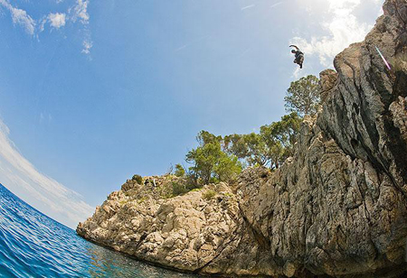 cliff jumping mallorca